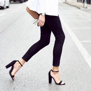 ❗️1 LEFT Nordstrom Black Opaque Leggings NWT